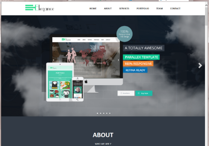 Elegance free bootstrap template